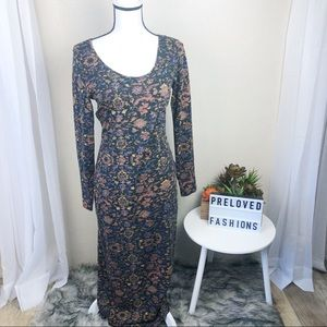Peruvian connection stretch long maxi dress small